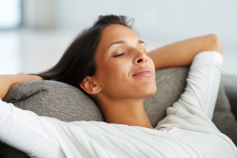 Laughing Gas Sedation - woman sleeping
